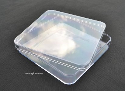 Hộp nhựa trong suốt bằng nhựa PS 150*150*35 mm